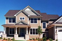 Home Plan - European Exterior - Front Elevation Plan #51-640