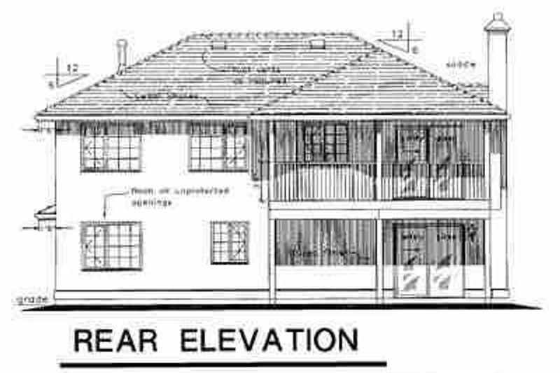 European Exterior - Rear Elevation Plan #18-213 - Houseplans.com