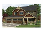 Craftsman Style House Plan - 3 Beds 2.5 Baths 2090 Sq/Ft Plan #943-29 Exterior - Front Elevation