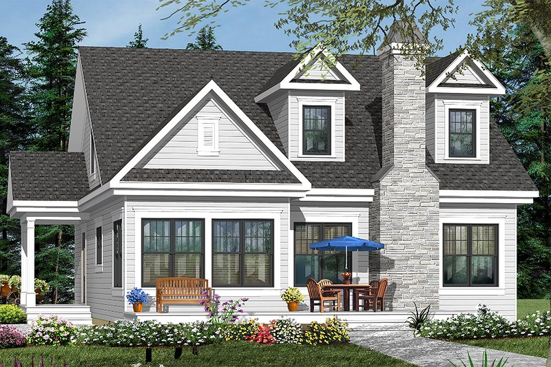 Home Plan - Country Exterior - Front Elevation Plan #23-2241