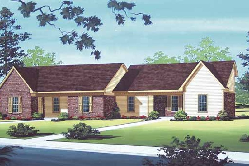 Dream House Plan - Traditional Exterior - Front Elevation Plan #45-393