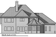 Dream House Plan - European Exterior - Rear Elevation Plan #70-737