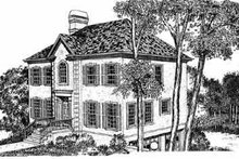 European Exterior - Front Elevation Plan #72-393
