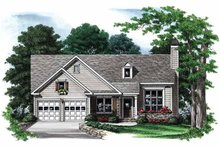 Ranch Exterior - Front Elevation Plan #927-554