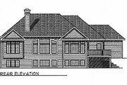 Traditional Style House Plan - 3 Beds 2.5 Baths 3086 Sq/Ft Plan #70-255 Exterior - Rear Elevation