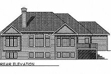 House Design - Traditional Exterior - Rear Elevation Plan #70-255