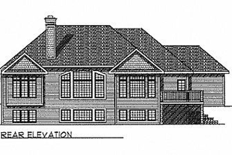 Traditional Exterior - Rear Elevation Plan #70-255 - Houseplans.com
