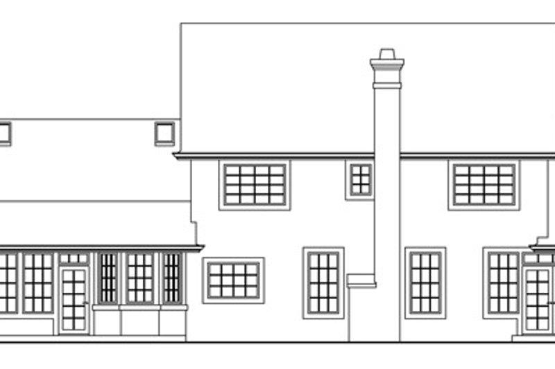 Colonial Exterior - Rear Elevation Plan #124-216 - Houseplans.com