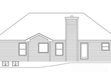 European Exterior - Rear Elevation Plan #22-525