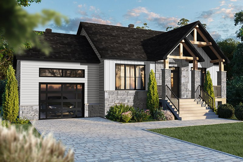 Dream House Plan - Craftsman Exterior - Front Elevation Plan #23-2728