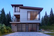 Contemporary Style House Plan - 5 Beds 4 Baths 3936 Sq/Ft Plan #1066-33 Exterior - Rear Elevation