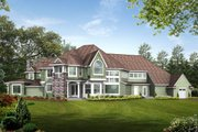 Craftsman Style House Plan - 5 Beds 5.5 Baths 7400 Sq/Ft Plan #132-182 Exterior - Rear Elevation