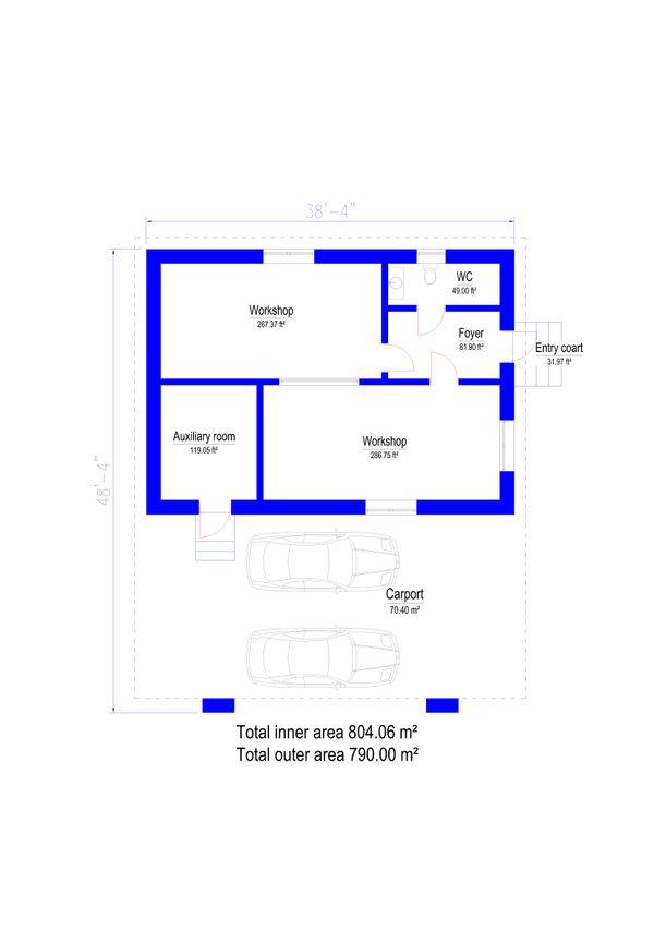 Modern Floor Plan - Main Floor Plan Plan #549-27