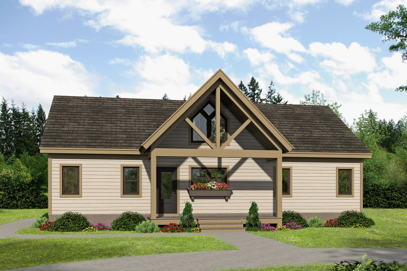 Home Plan - Country Exterior - Front Elevation Plan #932-35