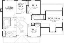 Farmhouse Floor Plan - Upper Floor Plan Plan #48-105