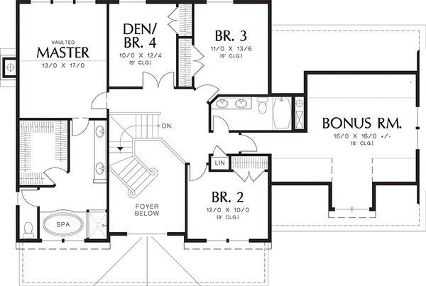 Dream House Plan - Farmhouse Floor Plan - Upper Floor Plan #48-105