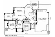 European Style House Plan - 4 Beds 3.5 Baths 3688 Sq/Ft Plan #70-535 Floor Plan - Main Floor Plan