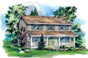 Country Style House Plan - 4 Beds 2.5 Baths 2111 Sq/Ft Plan #18-343 Exterior - Front Elevation