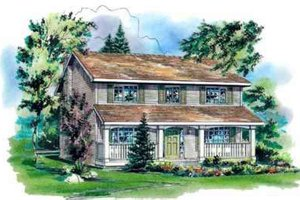 Country Exterior - Front Elevation Plan #18-343