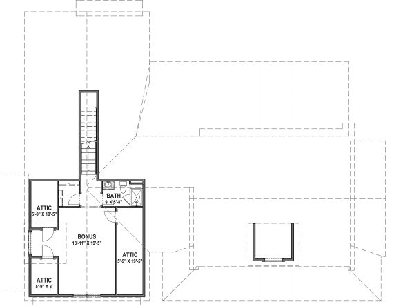 Farmhouse Floor Plan - Upper Floor Plan Plan #1069-19