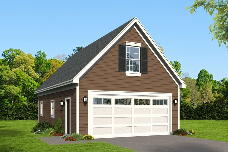Country Exterior - Front Elevation Plan #932-242