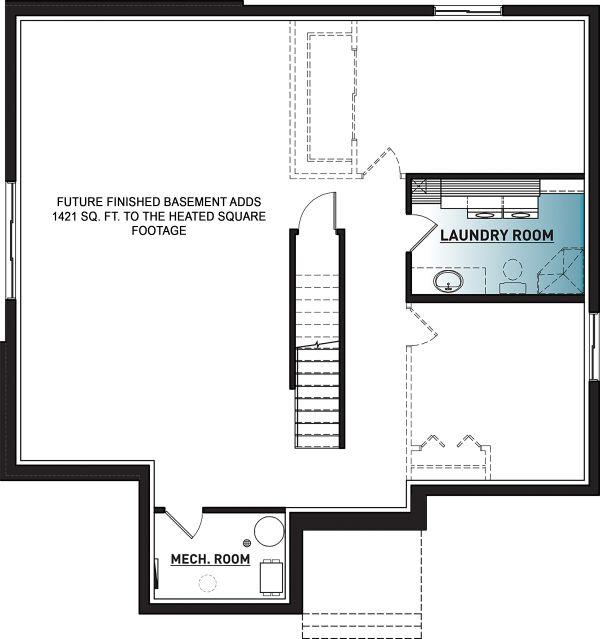 Modern Floor Plan - Lower Floor Plan Plan #23-2722