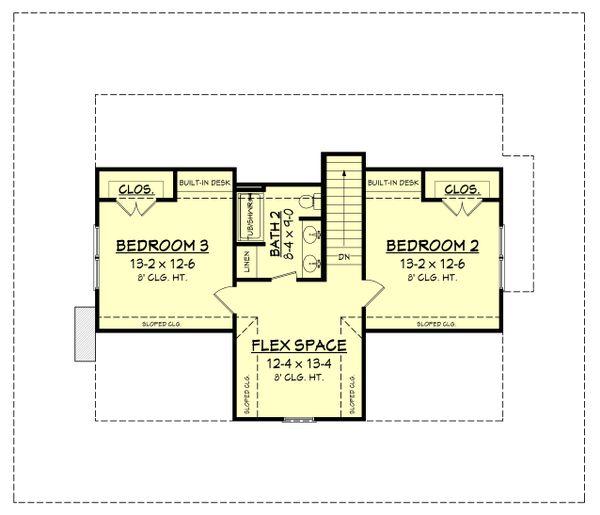 Country Floor Plan - Upper Floor Plan Plan #430-150