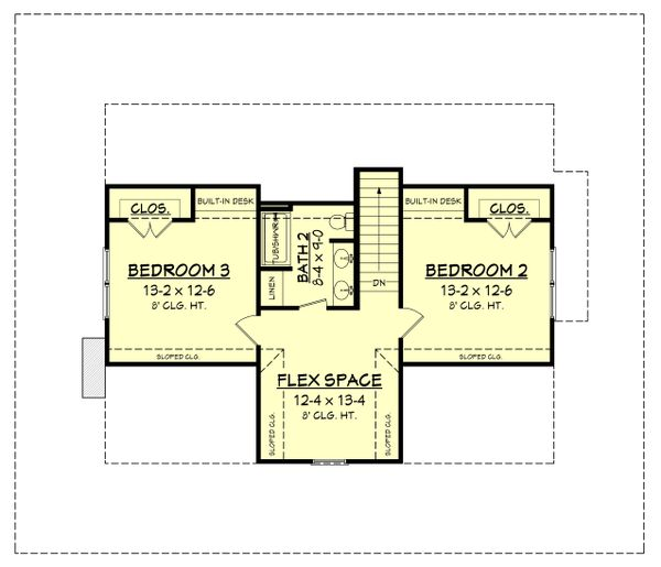 Country Floor Plan - Upper Floor Plan Plan #430-150