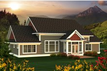 House Plan Design - Farmhouse Exterior - Rear Elevation Plan #70-1172