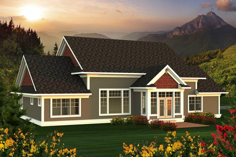 Farmhouse Exterior - Rear Elevation Plan #70-1172 - Houseplans.com