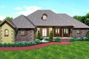 European Style House Plan - 3 Beds 2.5 Baths 2197 Sq/Ft Plan #44-170 Exterior - Front Elevation