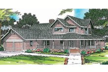 Country Exterior - Front Elevation Plan #124-173
