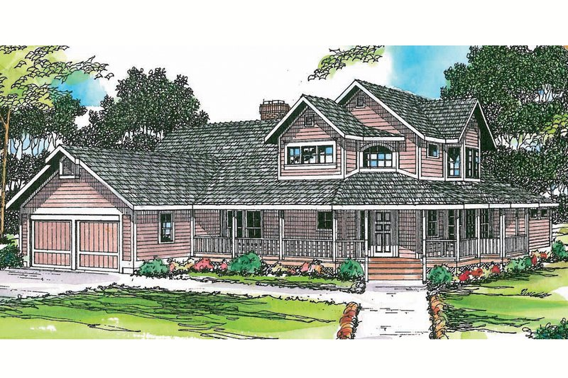 Country Exterior - Front Elevation Plan #124-173 - Houseplans.com