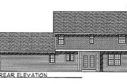 Farmhouse Style House Plan - 3 Beds 2.5 Baths 1986 Sq/Ft Plan #70-262 Exterior - Rear Elevation