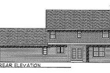 House Plan Design - Farmhouse Exterior - Rear Elevation Plan #70-262