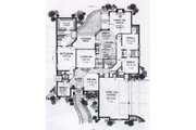 Traditional Style House Plan - 4 Beds 3 Baths 2582 Sq/Ft Plan #310-848 Floor Plan - Main Floor
