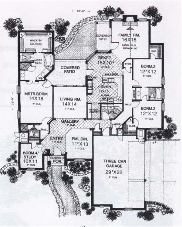Traditional Floor Plan - Main Floor Plan #310-848