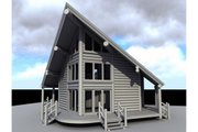 Log Style House Plan - 1 Beds 2 Baths 939 Sq/Ft Plan #451-9 Exterior - Other Elevation