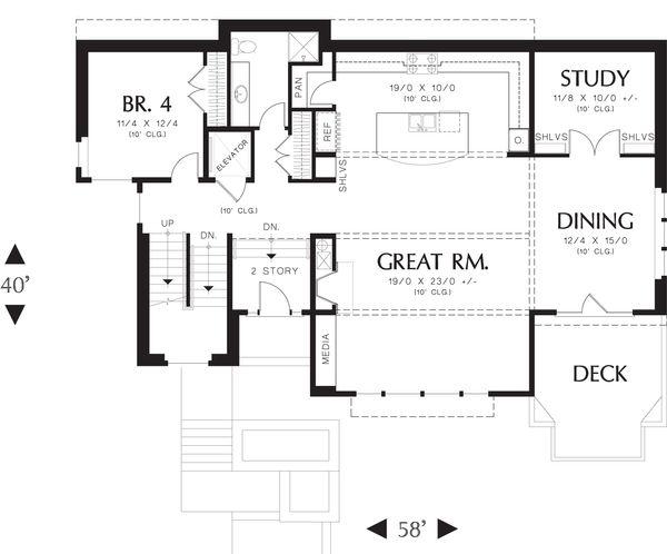 Modern Floor Plan - Main Floor Plan Plan #48-613