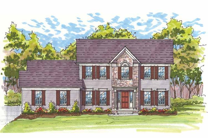 Traditional Exterior - Front Elevation Plan #435-22 - Houseplans.com