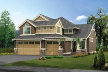 Dream House Plan - Craftsman Exterior - Front Elevation Plan #132-313
