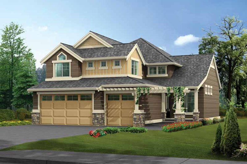 Dream House Plan - Craftsman Exterior - Front Elevation Plan #132-313