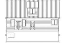 Cabin Exterior - Rear Elevation Plan #1060-24