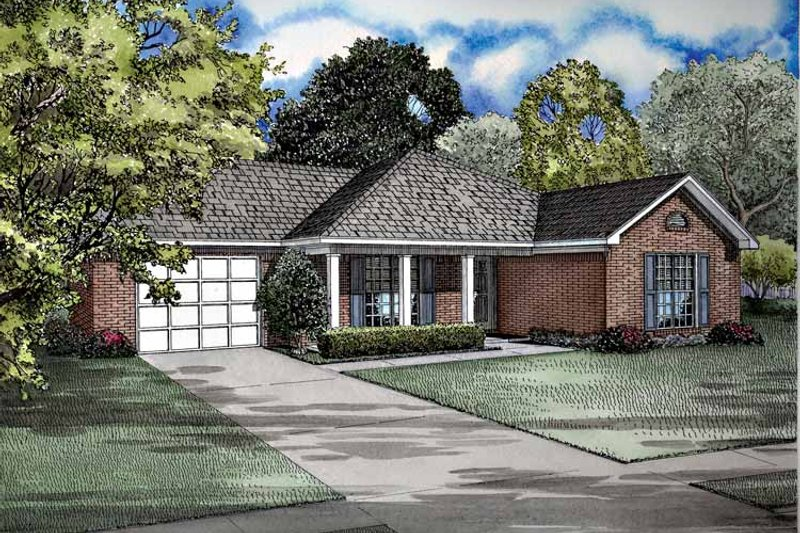 Dream House Plan - Ranch Exterior - Front Elevation Plan #17-2968