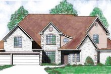 Country Exterior - Front Elevation Plan #52-259
