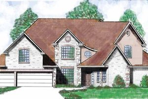 Home Plan - Country Exterior - Front Elevation Plan #52-259
