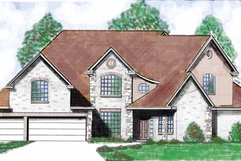 Architectural House Design - Country Exterior - Front Elevation Plan #52-259