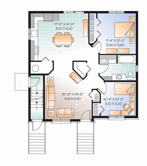 Traditional Floor Plan - Main Floor Plan Plan #23-2560