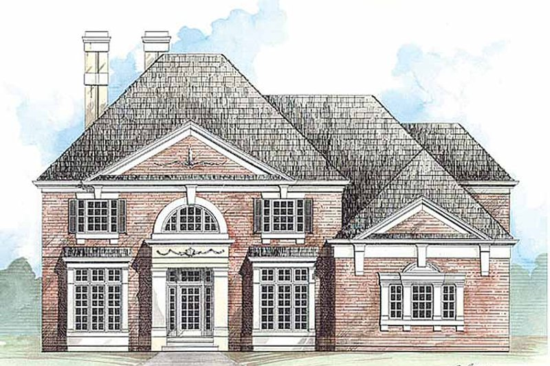 Classical Exterior - Front Elevation Plan #119-371