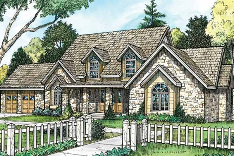 Country Exterior - Front Elevation Plan #140-189 - Houseplans.com